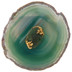 Yves Saint Laurent 20th Century Agate Cuff