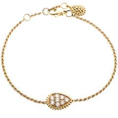 Serpent Boheme 18k Yellow Gold And Diamonds S Motif Bracelet