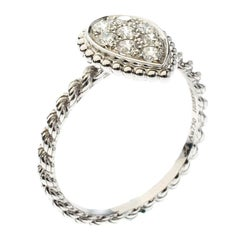 Serpent Boheme Diamonds and 18K White Gold S Motif Ring