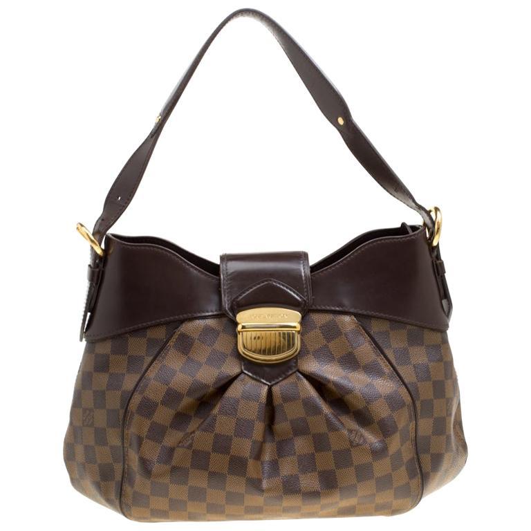 e35aceb18f81 Louis Vuitton Damier Ebene Canvas Sistina MM Bag For Sale at 1stdibs