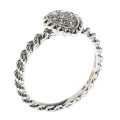 Serpent Boheme 18K Weißgold und Diamanten XS Motiv Ring