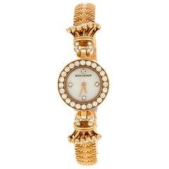 Mother of Pearl Diamond & 18k Rose Gold Ma Jolie Women's Wristwatch 18MM