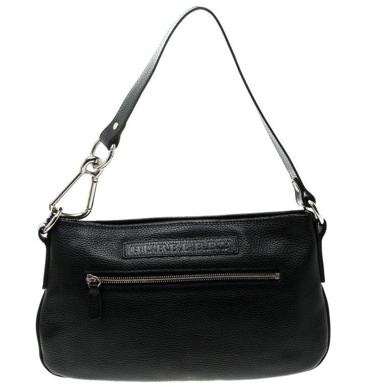 386f17016de3 Black Grainy Leather Shoulder Bag For Sale at 1stdibs