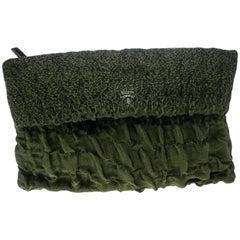 Prada grün Cloquet Stoff Ordner Tasche