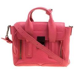 3.1 Phillip Lim Coral Pink Leather Mini Pashli Top Handle Shoulder Bag
