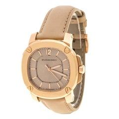 Burberry Beige Rose Gold Plated BBY1503 Women's Wristwatch 36 mm