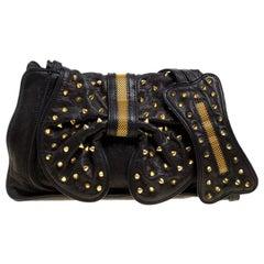 3.1 Phillip Lim Black Leather Studded Bow Edie Shoulder Bag