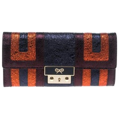 Anya Hindmarch Multicolor Ceramic Effect Patent Leather Continental Wallet