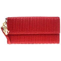 Clutch aus rotem Leder von Dior