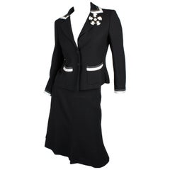 Chanel 2-pcs Suit - black & white 2003