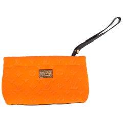 Louis Vuitton Monogram Scuba Clutch - orange