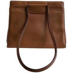 Caramel Leather 1970s Olivier Strelli Purse
