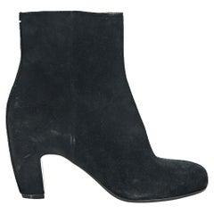 Black Maison Martin Margiela Suede Ankle Boots