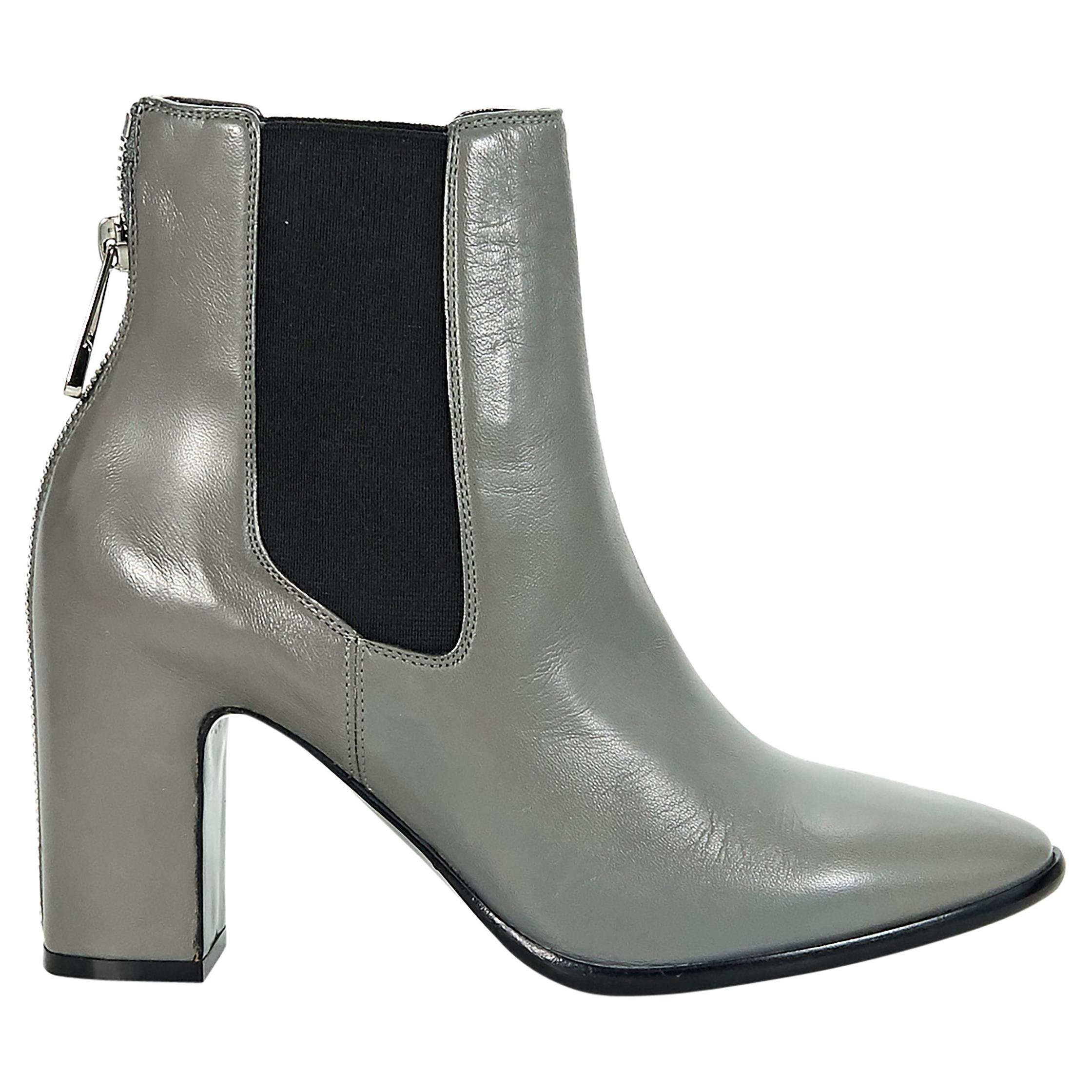 094044f7e Grey Balenciaga Leather Ankle Boots For Sale at 1stdibs