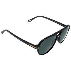 Chopard schwarz/polarisierte SCH193 Aviator Sonnenbrillen