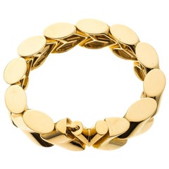 Louis Vuitton Unchain V Gold Tone Bracelet