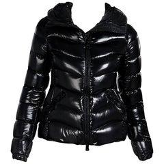 Black Moncler Anthia Down Puffer Coat
