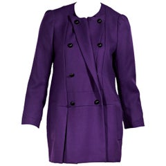 Purple Yves Saint Laurent Wool Coat FW 2011