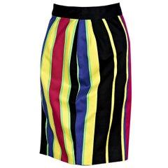 Multicolor Vintage Gianni Versace Striped Skirt