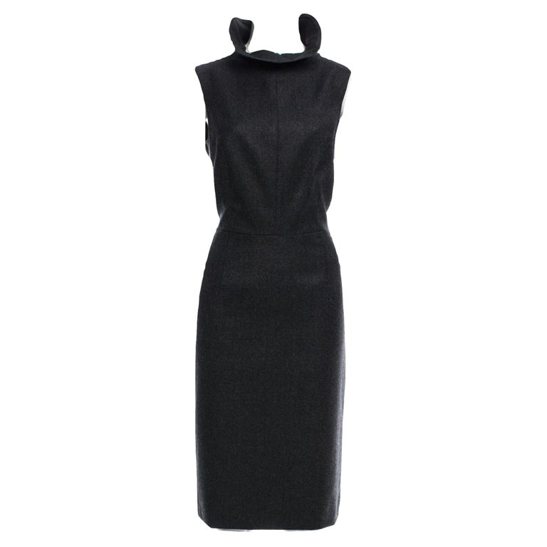 New Yves Saint Laurent YSL F/W 2009 Runway Wool Lurex Dress Sz FR42 In New Condition For Sale In Leesburg, VA