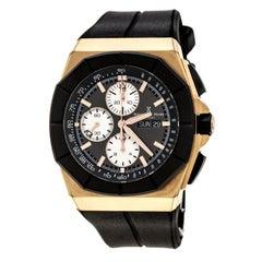 Bernhard H. Mayer Black Rose Gold Tone Exemplar Men's Wristwatch 46 mm