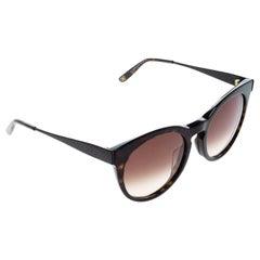 Bottega Veneta Havana/Brown Gradient BV253FS Round Sunglasses