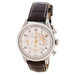 Baume & Mercier White Capeland Chronograph Stainless Steel Men's Watch 42MM