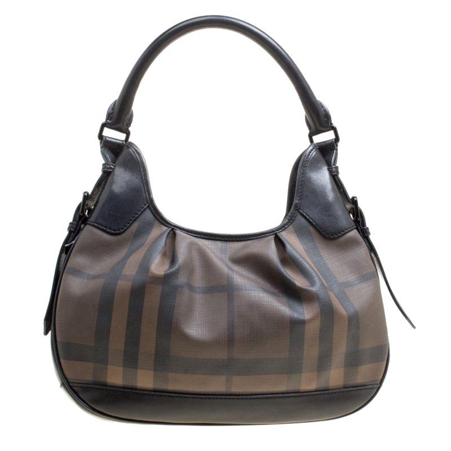 f5bfb89f1598 Burberry Brown Black Nova Check PVC and Leather Small Brooklyn Hobo For  Sale at 1stdibs