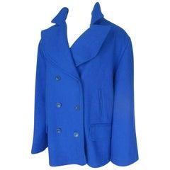 Karl Lagerfeld Royal Blue wool coat