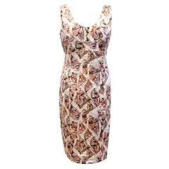 Chanel Print Silk Dress US 6