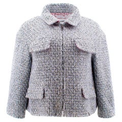 Chanel Fantasy Tweed Jacket with Lame  US 10