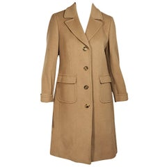 Tan Brooks Brothers Camel Hair Coat