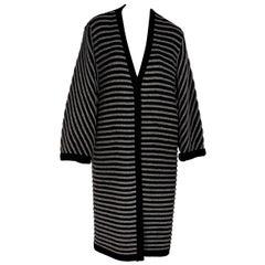 Black & Grey Vintage Valentino Oversized Cardigan