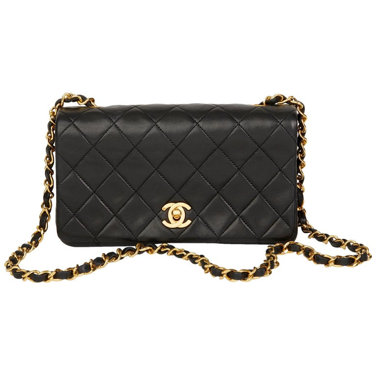 60a762312d4b 1989 Chanel Black Quilted Lambskin Vintage Mini Flap Bag For Sale at ...