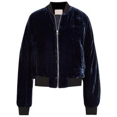 Dion Lee Velvet Bomber Jacket