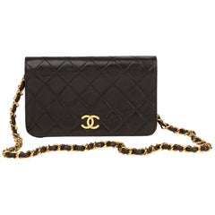 1991 Chanel Black Quilted Lambskin Vintage Mini Flap Bag fa0f9f164d7aa