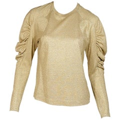 Metallic Gold Dries van Noten Sweater Top