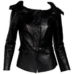 Black Burberry Prorsum Leather Jacket