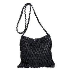 Black Bottega Veneta Woven Leather Chain Bag