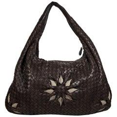 Brown Bottega Veneta Intrecciato Floral Hobo Bag