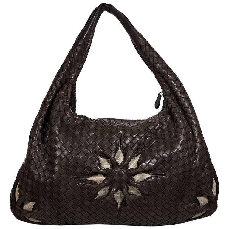 29a66ff14ba1 Brown Bottega Veneta Intrecciato Floral Hobo Bag For Sale at 1stdibs