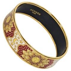 Multicolor Hermes Enamel Bangle Bracelet