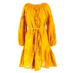 Vita Kin Mustard Embroidered Minidress US 6