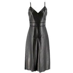 Gucci jour echelle black leather dress US 6