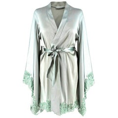 La Perla Azalea silk-blend satin kimono robe US 4
