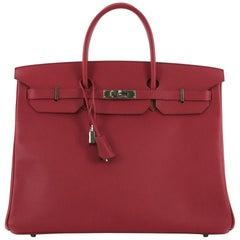 Hermes Birkin Handbag Rubis Epsom with Palladium Hardware 40