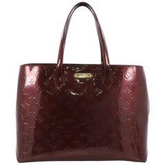 Louis Vuitton Wilshire Handtasche mit Monogramm und Glanzlack