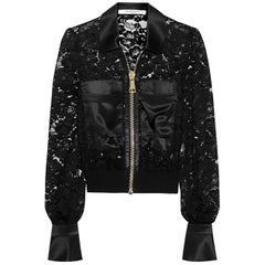 Givenchy Bomber jacket with silk-satin panels in black US 0-2