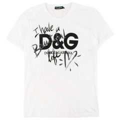 Dolce & Gabbana I Have A Beautiful Life T-Shirt  US 10
