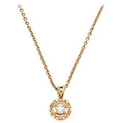 Bvlgari Bvlgari Diamant Gelbgold Halskette mit Anhänger
